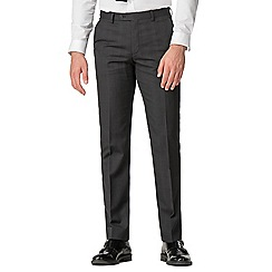 Stvdio by Jeff Banks - Charcoal check plain front tailored fit suit trouser