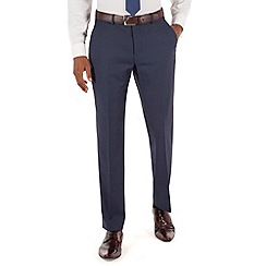 Stvdio by Jeff Banks - Blue semi plain plain front tailored fit suit trouser