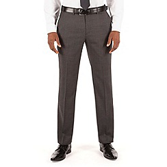 Stvdio by Jeff Banks - Grey semi plain plain front tailored fit luxury suit trouser