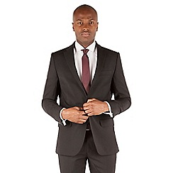 Stvdio by Jeff Banks - Black plain 1 button front tailored fit luxury suit