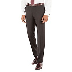 Stvdio by Jeff Banks - Plain black plain front tailored fit luxury suit trouser