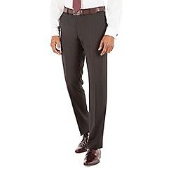 Stvdio by Jeff Banks - Plain black plain front tailored fit luxury suit trouser