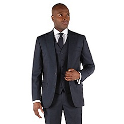 Stvdio by Jeff Banks - Blue twill 2 button tailored fit luxury suit jacket