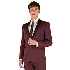 Red Herring - Burgundy slim fit 1 button shawl collar dresswear jacket