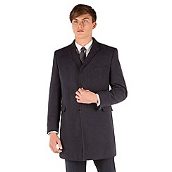Red Herring - Blue semi plain 3 button slim fit coat