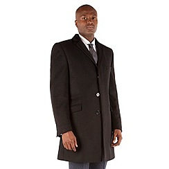 BEN SHERMAN - Black plain 3 button kings slim fit coat