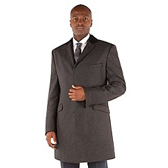 BEN SHERMAN - Grey semi plain 3 button kings slim fit coat