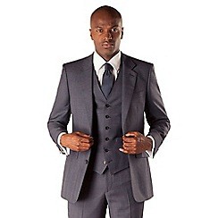 Hammond & Co. by Patrick Grant - Blue check 2 button front tailored fit st james suit jacket