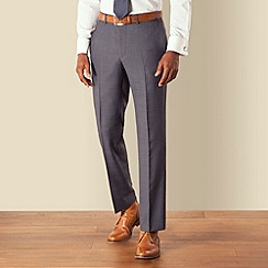 Hammond & Co. by Patrick Grant - Blue check plain front tailored fit suit trouser