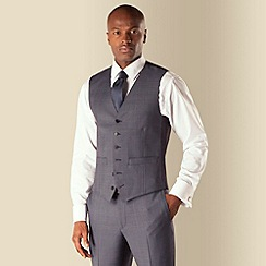 Hammond & Co. by Patrick Grant - Blue check 6 button tailored fit suit waistcoat