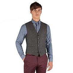 Red Herring - Grey herringbone 6 button vest