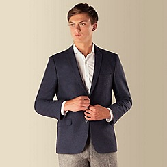Red Herring - Blue herringbone 2 button jacket