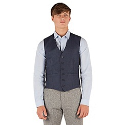 Red Herring - Blue herringbone 6 button vest