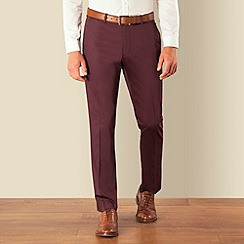 Red Herring - Burgundy cotton smart chino
