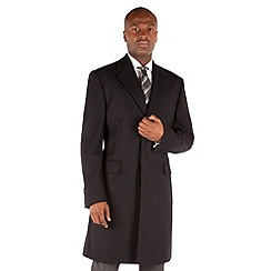 Hammond & Co. by Patrick Grant - Single breasted navy three button fry front coat