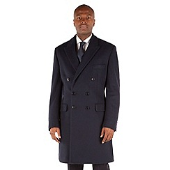 Hammond & Co. by Patrick Grant - Navy double breasted tailored fit coat