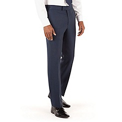 Hammond & Co. by Patrick Grant - Blue hopsack plain front tailored fit suit trouser