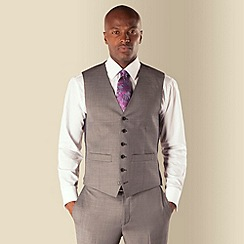 Hammond & Co. by Patrick Grant - Grey pick and pick 6 button front tailored fit suit waistcoat
