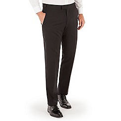 Jeff Banks - Black plain regular fit dinner suit trouser