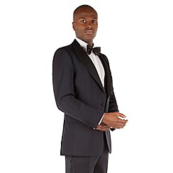 Hammond & Co. by Patrick Grant - Midnight blue 1 button front tailored fit savile row dinner suit