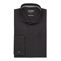 Stvdio by Jeff Banks - Black Stretch Poplin Shirt