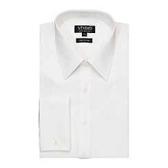 Stvdio by Jeff Banks - White Sateen Stripe Shirt