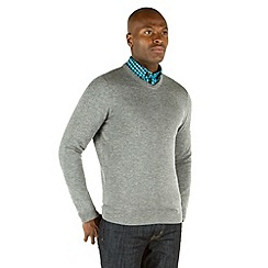 Racing Green - Malton V Neck Merino Knit