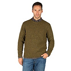 Racing Green - Selby Crew Neck Nep Knit