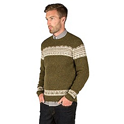 Racing Green - Farsley Panelled Fairisle Knit