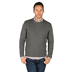 Racing Green - Burley Cable And Rib Crew Knit
