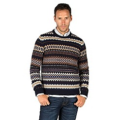 Racing Green - Fox Fairisle Crew Neck Knit
