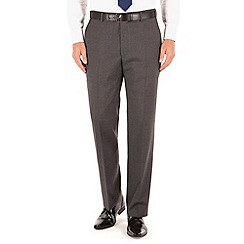 Racing Green - Grey plain regular fit suit trousers