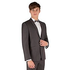 Red Herring - Charcoal pindot 1 button slim fit suit jacket