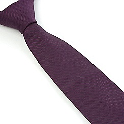 Stvdio by Jeff Banks - Violet Irregular Textured Tie