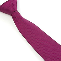 Stvdio by Jeff Banks - Magenta Irregular Textured Tie