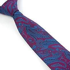 Stvdio by Jeff Banks - Magenta Ornate Paisley Tie
