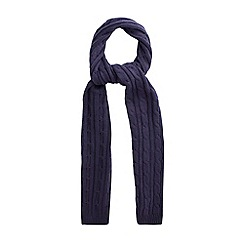 Racing Green - Owen Cable Knit Scarf