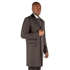 Stvdio by Jeff Banks - Grey Herringbone Overcoat