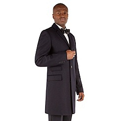 Stvdio by Jeff Banks - Navy Herringbone Overcoat