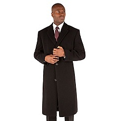 Jeff Banks - Black Cashmere Blend Full Length Overcoat