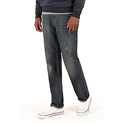 Racing Green - Dene Straight Fit Vintage Distress Jeans