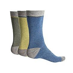 Racing Green - Yates 3 Pack Herringbone Socks