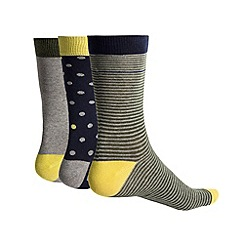 Racing Green - Agnes 3 Pack Multi Design Socks