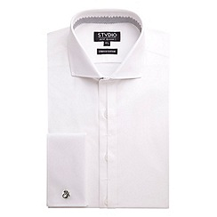 Stvdio by Jeff Banks - White Stretch Poplin Shirt