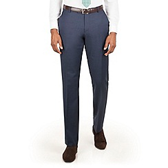 Racing Green - Blue pick and pick tailored fit suit trouser