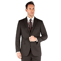 Karl Jackson - Plain black twill 2 button suit