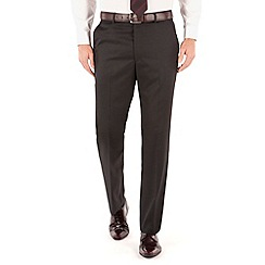 Karl Jackson - Plain black twill suit trouser