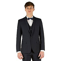 Red Herring - Navy micro design slim fit 1 button suit