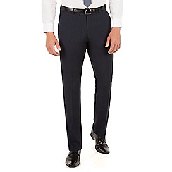 Red Herring - Navy micro design slim fit trouser