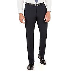 Red Herring - Navy micro design slim fit trouser